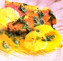 Salmonetes fritos con albahaca y cítricos