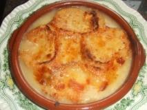 Sopa de cebolla al estilo francés