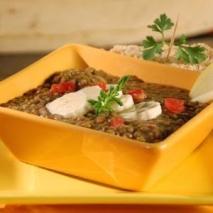 Sopa de lentejas con caldo de verduras