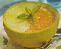 Sopa de melón de dos colores