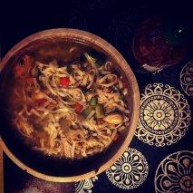 Sopa de Noodles de langostinos