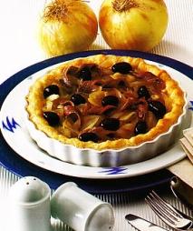 Tarta de cebolla y anchoas