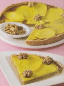 Tarta de mango y nueces