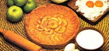 Tarta de manzana a la vainillla