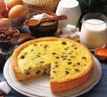 Tarta de queso con pasas de Corinto