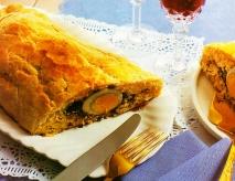 Tarta de salmón fresco