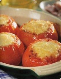 Tomates rellenos de tofu