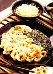 Tortellini a la crema de espinacas