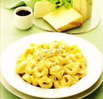 Tortellini a los cuatro quesos