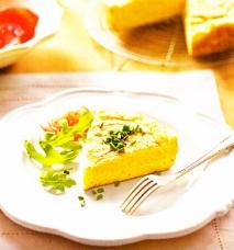 Tortilla esponjosa de queso