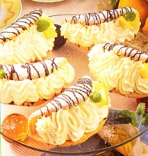 Tortitas rellenas de nata y limón