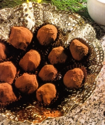 Trufas de chocolate al brandy