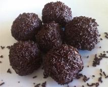 Trufas de chocolate borrachas